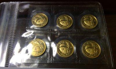 千手集藏§ (已出售)西元1987年 中國熊貓 金幣 y版 20分之1 999純金 原封包不分售