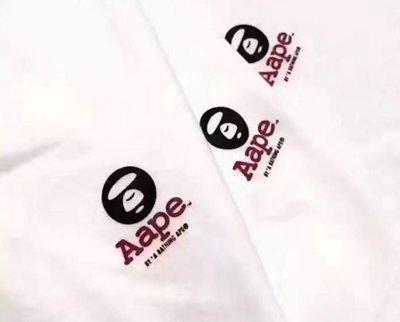 全新正品 2017夏天 內搭 AAPE BAPE 猿人頭 迷彩 黑 白   S M L XL 2XL