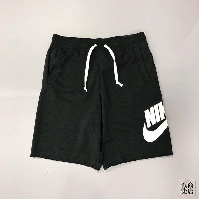 (貳柒商店) Nike Sportswear Shorts 男款 黑色 黑白 基本款 短褲 不收邊 AR2376-010