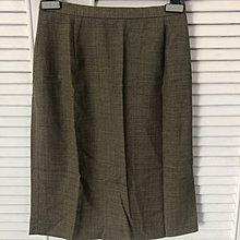 Max Mara 95%羊毛棕色鉛筆裙