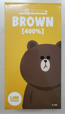 全新 Medicom Bearbrick 400% LINE Friends Brown Be@brick