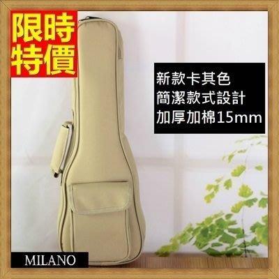 烏克麗麗包 ukulele 琴包配件-21/23/26吋超厚加綿雙肩帆布保護袋琴袋琴套3色69y9[米蘭精品]