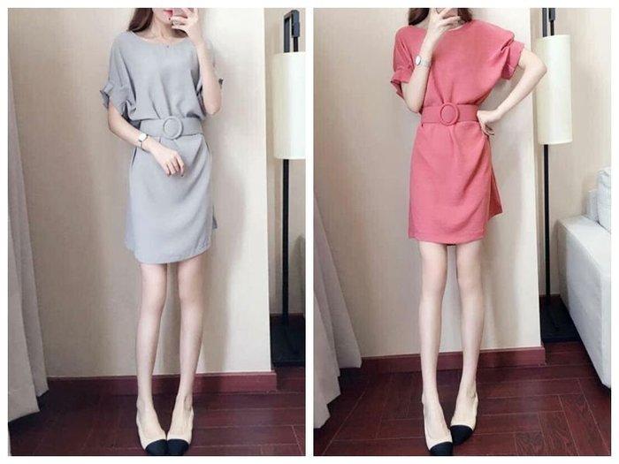 貓姐的團購中心~Z0229 優雅怡人腰帶連身裙~2種顏色~S-2XL一件390元~預購款