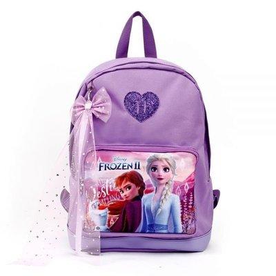 ♀高麗妹♀韓國 Disney FROZEN II 冰雪奇緣2 兒童雙肩護背.透氣書包/背包(D款-紫)預購