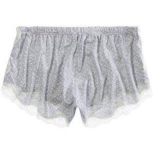 Maple麋鹿小舖 American Eagle * AE 灰色點點蕾絲短褲/睡褲 * ( 現貨S/M號 )