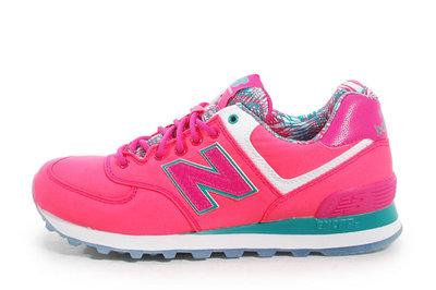 南◇現 New Balance NB 574 復古 WL574IGP 螢光粉 綠 日系 可愛 俏皮配色 休閒慢跑鞋