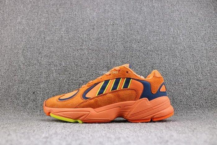 Adidas Original Yuan-1 桔藍 經典 麂皮 運動老爹鞋 慢跑鞋 男女鞋 B37613