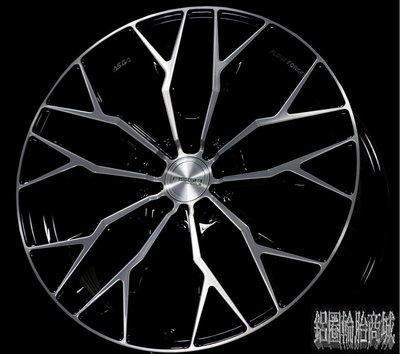 全新鋁圈 ASGA ARF10 19吋旋壓鋁圈 黑底車面 5孔108 5孔112 5孔114.3 可前後配 *完工價*