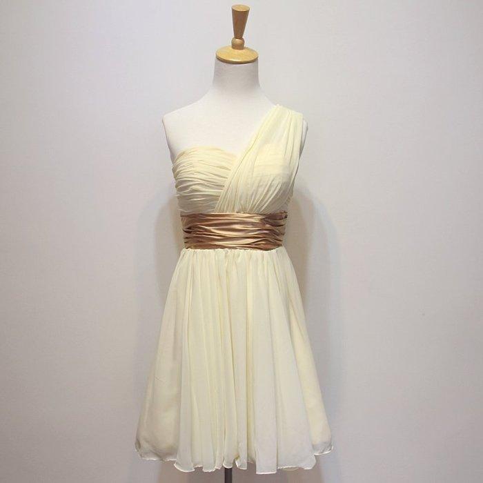 【優上精品】姐妹服 結婚小禮服 短款單肩斜肩紫色晚禮服伴娘服 姐妹(Z-P3263)