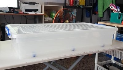 小毛居家『KEYWAY K018西式掀蓋整理箱38L 3入』含稅開發票 免運可刷卡 聯府 床底收納箱 透明抽屜櫃