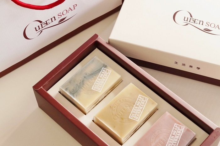 女王天然手工皂 (三入裝-手工皂禮盒)