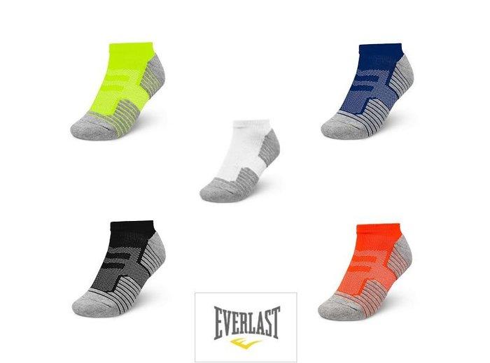 EVERLAST 男生 腳踝襪 運動襪 SOCKS 毛巾加厚底 五色可選 美國專業拳擊品牌-DIBO