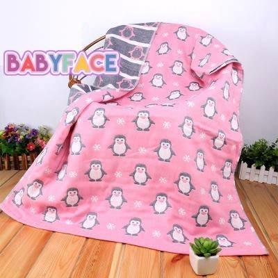 BabyFace【三層紗】紗布料 企鵝純棉巾蓋被成人情侶柔軟不掉毛好用推薦(70*140)