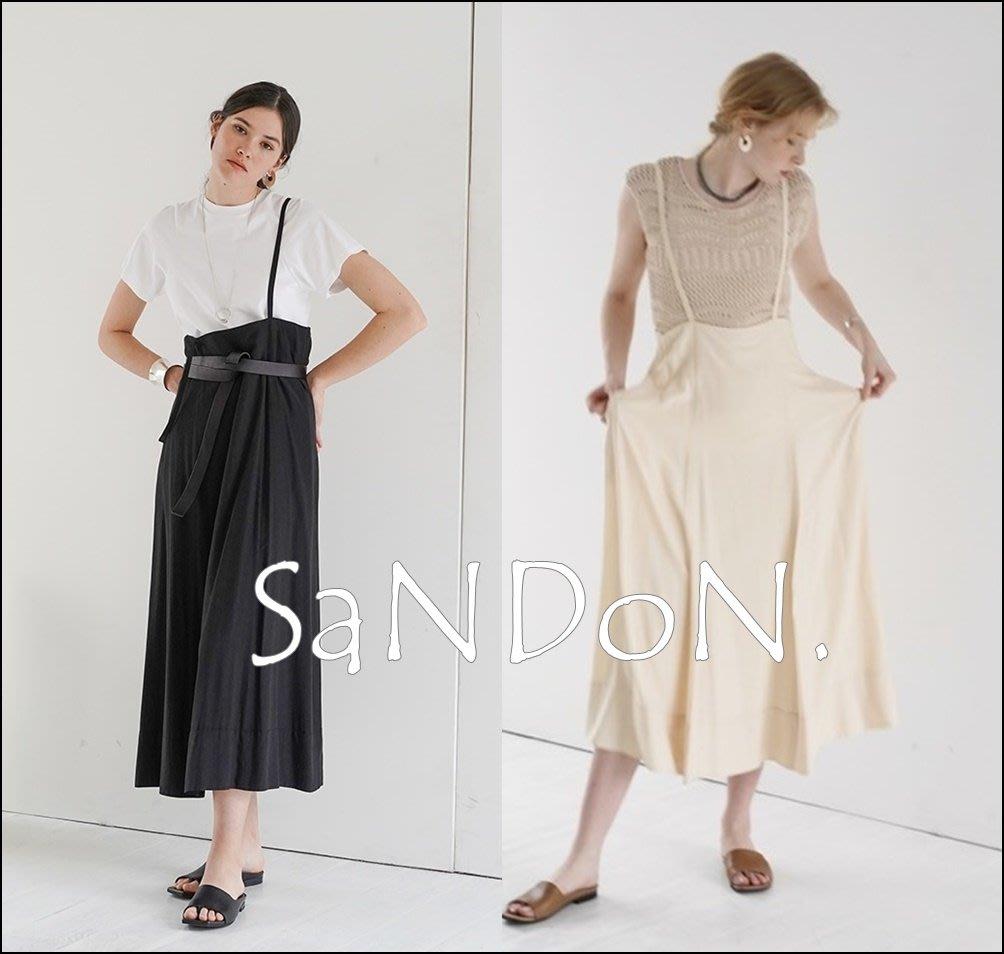 山東:CLANE 六月新款 官網完售系列 厚實廓形垂墜感吊帶長裙 SLY SNIDLE 200609