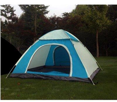 【蘑菇小隊】帳篷戶外3-4人全自動加厚防雨露營-MG62654