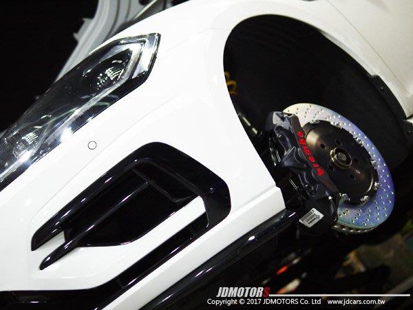 JD-MOTORS  BREMBO  GT-S 一體成型六活塞套裝組 380mm全浮動盤 VW GOLF7.R