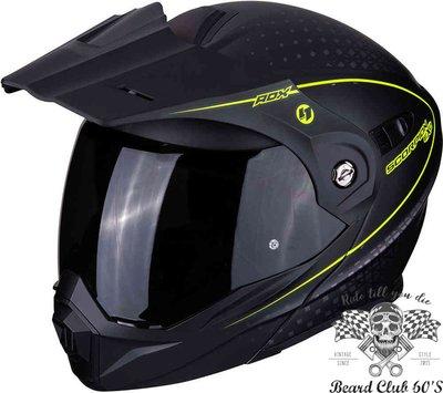 ♛大鬍子俱樂部♛ Scorpion® ADX-1 Horizon AT950 蠍子 越野 街車 全罩 安全帽 黑/黃