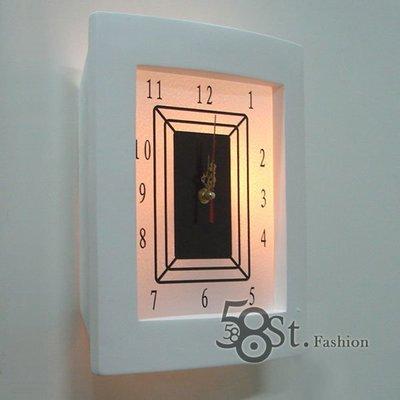 【58街】設計師款式「數字時鐘石膏壁燈...