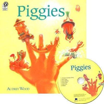 全新-63折出清【書+JYCD 】Piggies 同Napping house~King Bidgood's作者