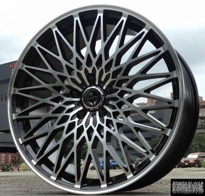 全新鋁圈 全新日本LOXARNY PAVONE 19吋 黑底車面 5孔114.3 8J VIP ALPHARD CK