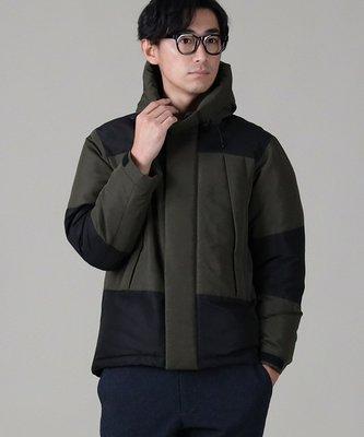 【日貨代購CITY】日本 RIGHT-ON 20AW-ST-01 拼接 羽絨 外套 連帽 保暖 高質感 防潑水 2色
