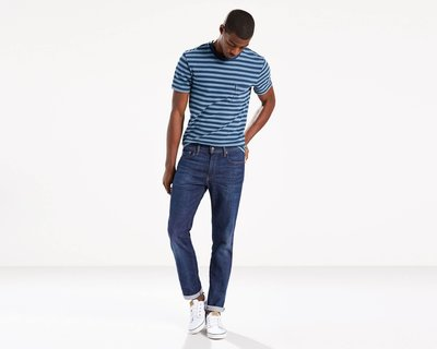 預購 LEVIS 511 深藍 刷白 小直筒 合身 彈性 牛仔 丹寧 長褲 牛仔褲