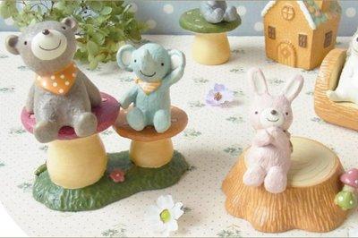 ArielWish日本DECOLE CONCOMBRE聖誕節禮物粉紅色蝴蝶結兔兔藍色大象情人節擺飾品拍照道具-兩款絕版品