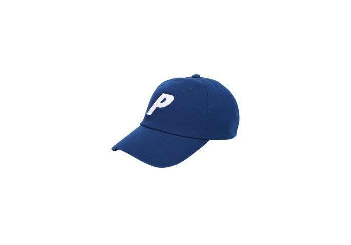 ☆AirRoom☆【現貨】2017AW PALACE P 6-PANEL CLARET CAP 老帽 大P LOGO 藍