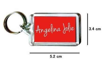 〈可來圖訂做-鑰匙圈〉Angelina Jolie 安潔莉娜裘莉 壓克力雙面鑰匙圈 (可當吊飾)