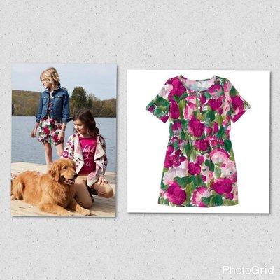 美國GYMBOREE正品 新款Corduroy Floral Dress燈芯絨連身裙洋裝 6T... 售300元