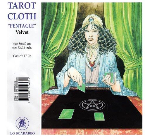 【牌的世界】五芒星刺繡占卜方巾(Pentacle Tarot Cloth)聖甲蟲原裝進口