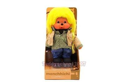 ☆╮泰迪學園╭☆日本Sekiguchi 夢奇奇MONCHHICHI【街頭小子造型】『幸福.幸運』的可愛小猴子