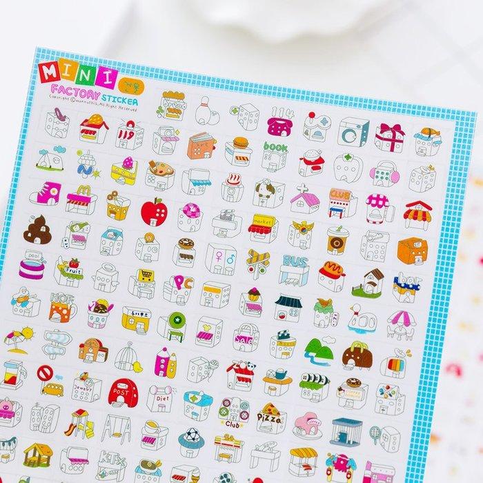 韓國貼紙文具mini factory可愛卡通日記貼紙  4款選 2張入