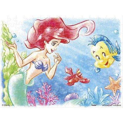 尼德斯Nydus 日本正版 迪士尼 公主系列 小美人魚 艾莉兒 迷你拼圖 150片預購 8x10cm
