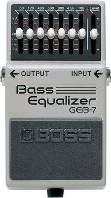 ♪♪學友樂器音響♪♪ BOSS GEB-7 單顆EQ效果器