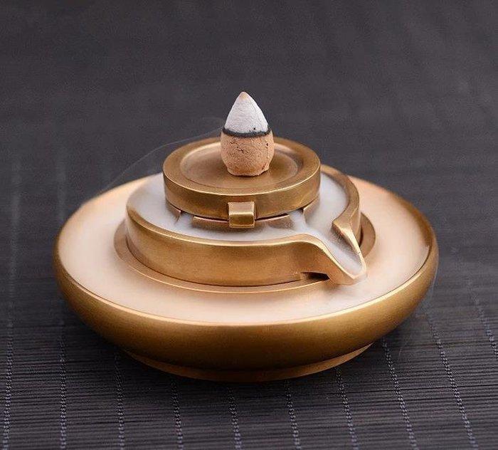 大石磨《時來運轉》倒流香爐 銅香爐 盤香爐 創意流煙爐佛教用品 零售批發