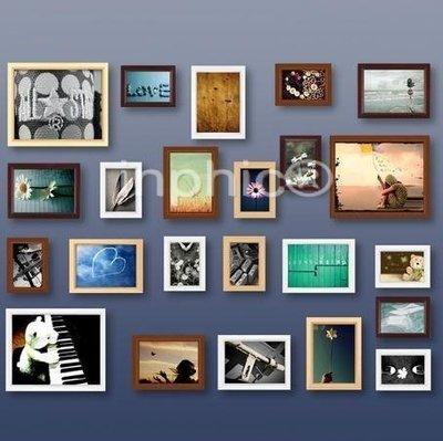 INPHIC-23框歐式混搭實木照片牆相框牆相片牆雙模版送圖片