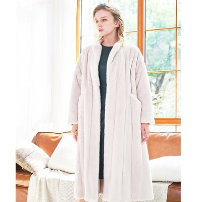 'OVERCOAT'丹麥進口天鵝絨母貂全抽女款貂皮大衣 長款整貂皮草大衣