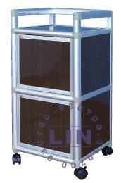 【品特優家具倉儲】◎P104-04鋁架廚房置物架得意1.2尺單連箱