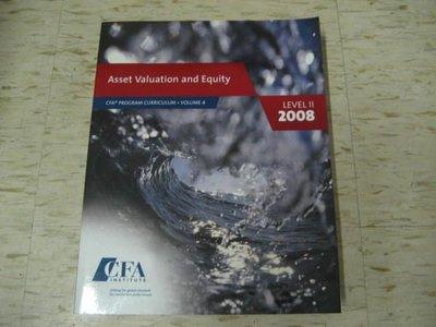 【邱媽媽二手書】Asset Valuation and Equity (CFA) 2008年出版/ ISBN:0536342385