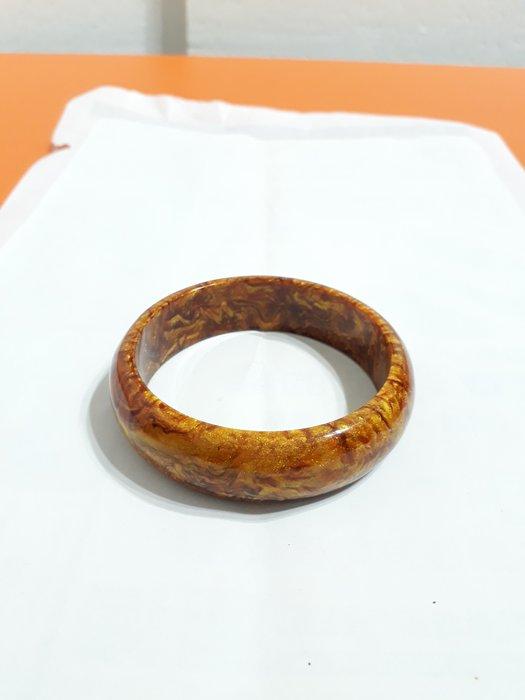 【九龍藝品】金海柳手鐲 ~ 版寬約18mm/內徑寬約62mm【 4 】