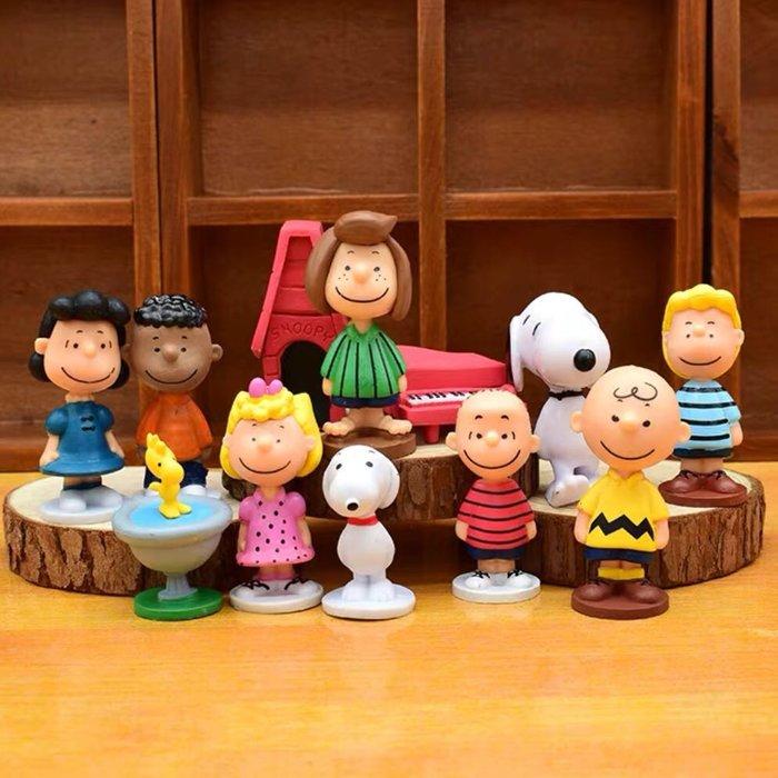 《瘋狂大賣客》SNOOPY 史努比 查理布朗 糊塗塌客 莎莉布朗 奈勒斯 佩蒂 瑪茜 露西 富蘭克林 蛋糕 創意 卡通 動漫 玩具 禮物 模型 公仔 擺件 送禮