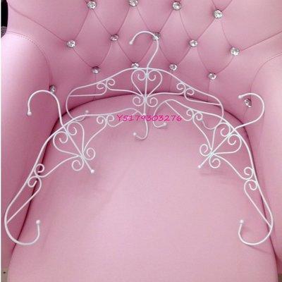 大量  歐式 法式 古典風 夢幻甜美 心形 愛心型 鐵藝 白色 衣架 展示架 女裝店 服飾店 衣架 . 可