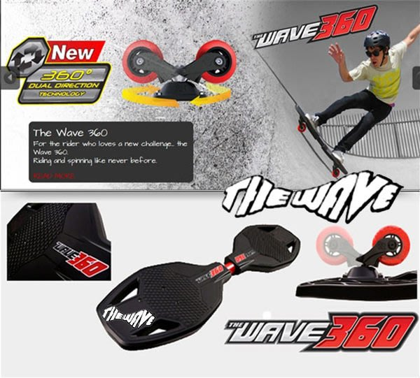 【不囉唆滑輪專賣店】 THE WAVE 360.最新空運引進@滑板@飄移板【360度.炫風板】獨家販售