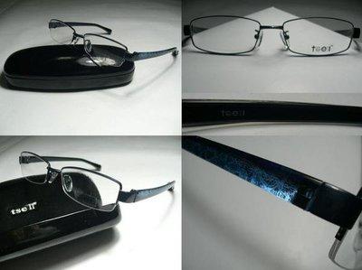 【信義計劃】全新真品 tse II 光學眼鏡  彈性記憶鏡架  深藍和黑色 林書豪 可戴