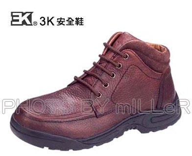 【米勒線上購物】安全鞋 3K 彈力休閒安全鞋 半統咖色 有鋼頭工作鞋 台灣製 可加購鋼底
