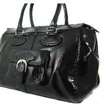 全新黑色手提大方包