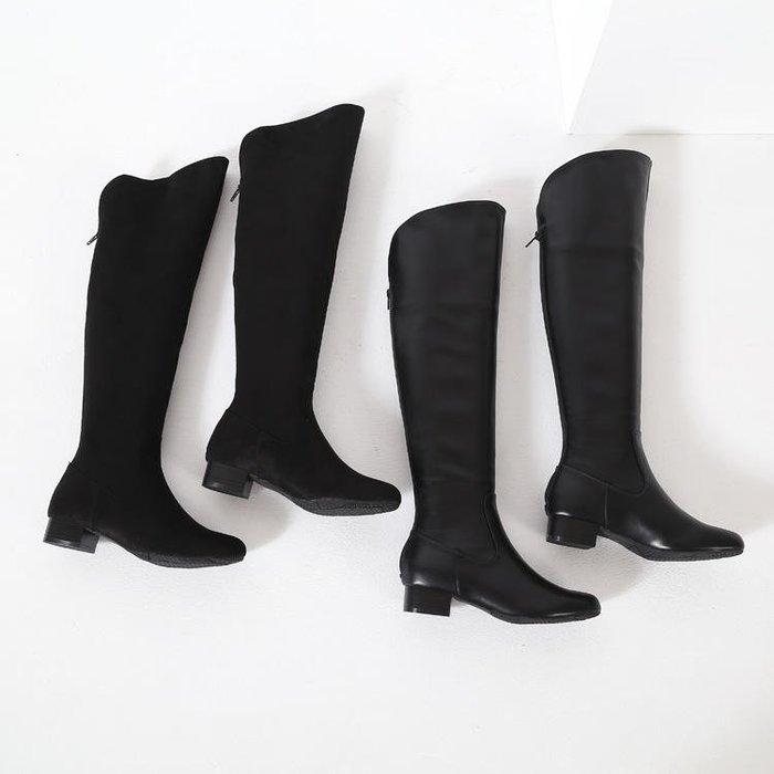 晴雨兼用 美腿還可防水 日本人氣品牌 長筒靴 防水長靴 過膝靴 膝上靴 長筒雨靴 平底後拉錬長靴 亮面 麂皮(ZXZ8)