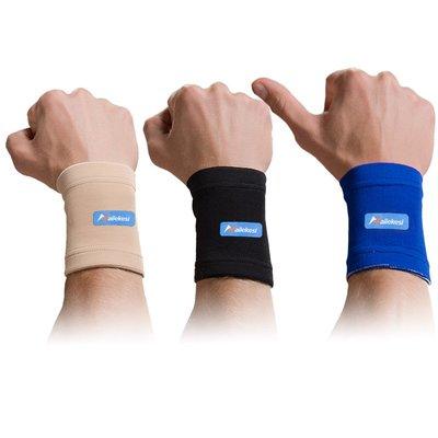 耐力克斯(NAILEKESI) 运动护腕尼龙男篮球女薄款护具擦汗手腕吸汗健身器材 黑色一对装/高弹力 均码