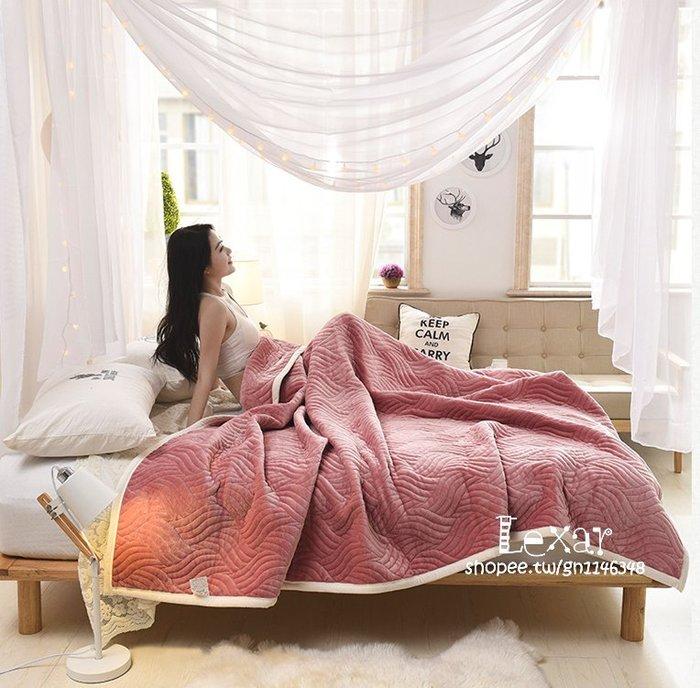 毛毯珊瑚絨毯子雙層加厚保暖拉舍爾毛毯法萊絨1.8m法蘭絨床單冬季